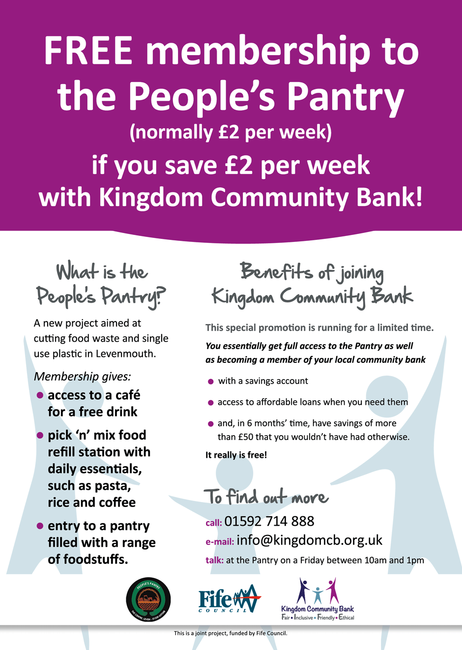 People's Pantry and Kingdom Community Bank poster image