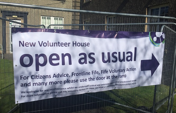 Business at usual at New Volunteer House, Kirkcaldy